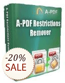 A-PDF Restrictions Remover Discount Deal