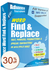 Advance Word Find and Replace OFF