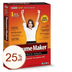 ResumeMaker Professional Deluxe Discount Coupon