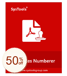 SysTools PDF Bates Numberer Discount Coupon
