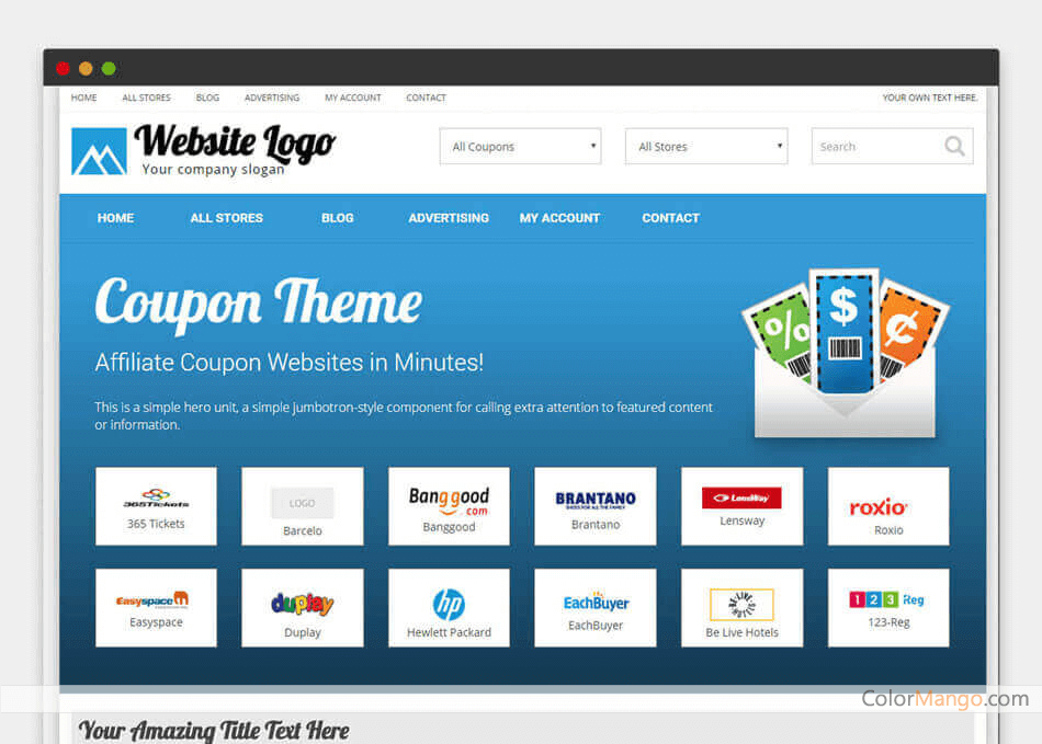 PremiumPress Coupon Theme Screenshot