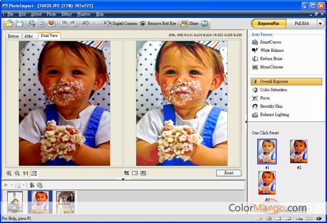 Corel PhotoImpact Screenshot
