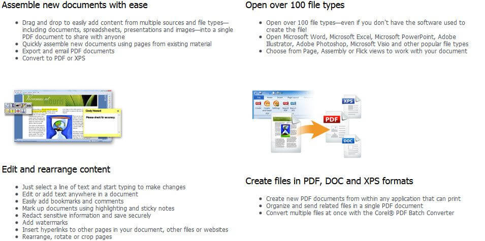 Corel PDF Fusion Feature