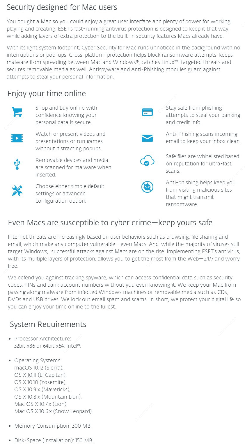 ESET Cyber Security 10 key Features