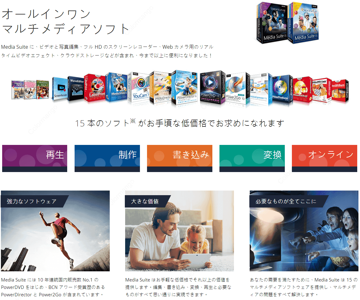 CyberLink Media Suite 特徴