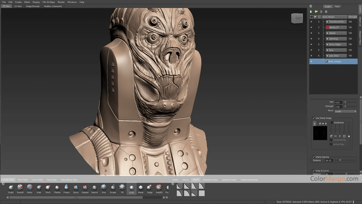 Autodesk Mudbox Screenshot