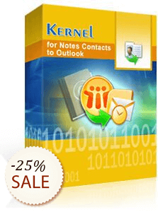 Kernel for Notes Contacts to Outlook Discount Coupon