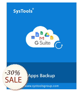 SysTools Google Apps Backup Discount Coupon