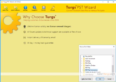 Turgs PST Converter Wizard Discount Coupon Screenshot