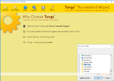 Turgs Thunderbird Wizard Discount Coupon Screenshot
