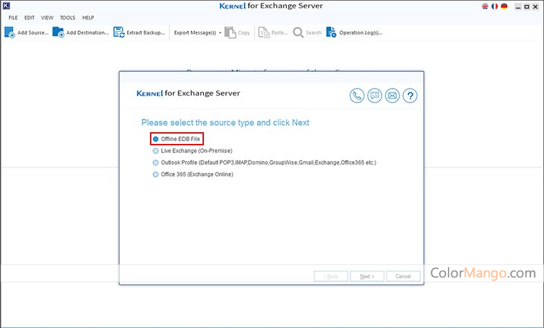Kernel for Exchange Server Recovery Screenshot